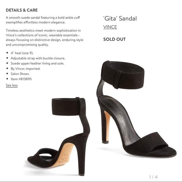 Vince Gita Suede Anklestrap Sandals